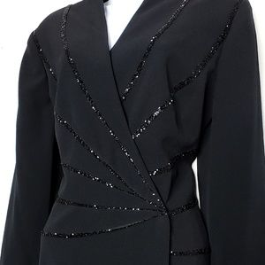 Daymor Couture V Neck Floor Length Wrap Dress